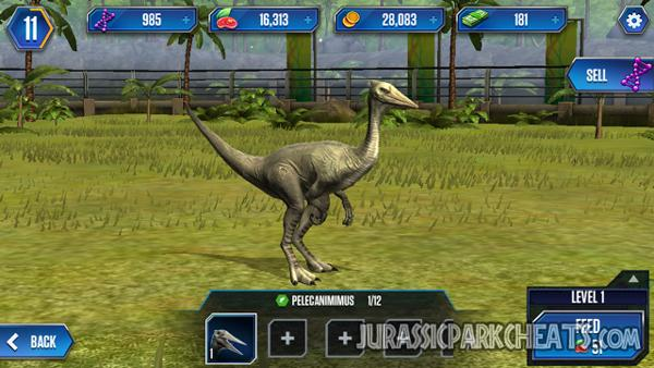 jurassic-world-game-pelecanimimus-dinosaur
